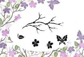 Card-io - Majestix Clear Peg Stamp Oriental Blossom