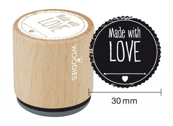 Woodies stamp Made with LOVE