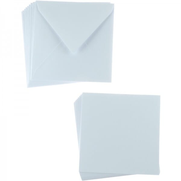 Sweet Dixie White Square Card and Envelope Packs (10)