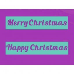 Sue Dix Designs - Happy Christmas & Merry Christmas Stencil