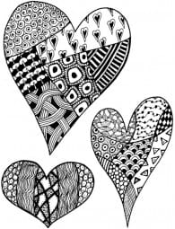 Lindsay Mason Designs - Zendoodles Hearts Ready To Go Clear Stamp
