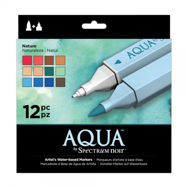 Spectrum Noir 12pk Aqua Markers Set - Nature