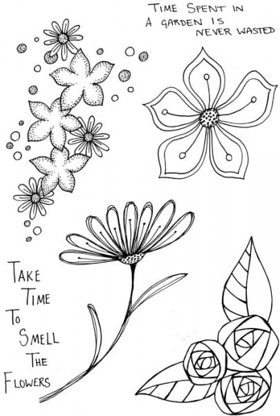 Lindsay Mason Designs - Smell the flowers Clear Stamp