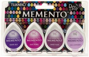 Tsukineko - Memento 4 Piece Set Juicy Purples
