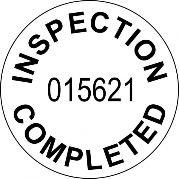 Customised Quality Control Inspection Stamp - Inspection Completed