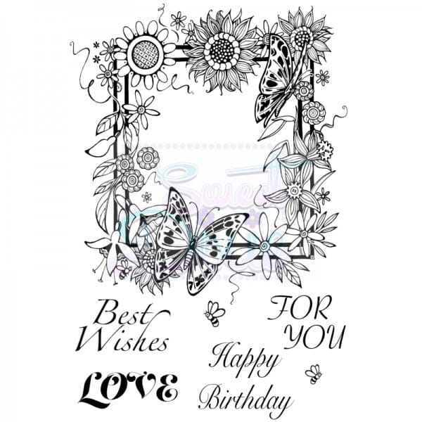 Cathie Shuttlworth Designs - Floral Border Clear Stamp A6