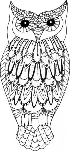 Lindsay Mason Designs - Big Owl Ready To Go - Clear Stamp