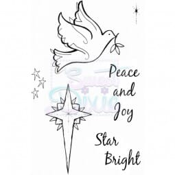 Lindsay Mason Designs - Peace and Joy Clear Stamp A6