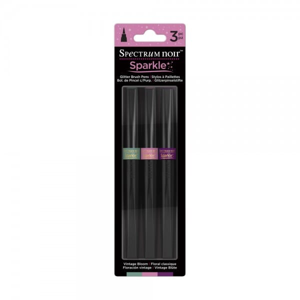 Spectrum Noir 3pk Sparkle Pens Set - Vintage Bloom