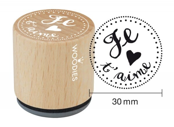 Woodies stamp Je t'aime 1