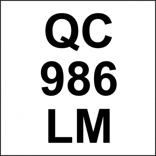 Customised Quality Control Inspection Stamp - Number & Initials