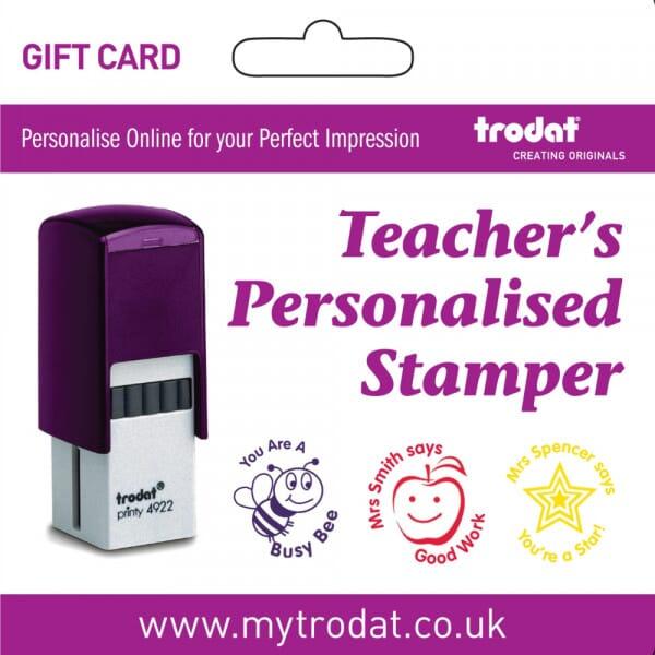 Trodat Personalised Teacher Stamp Gift Card