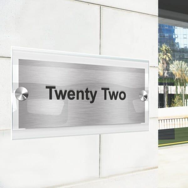 Rectangle Stand off Door Sign - 250x100mm