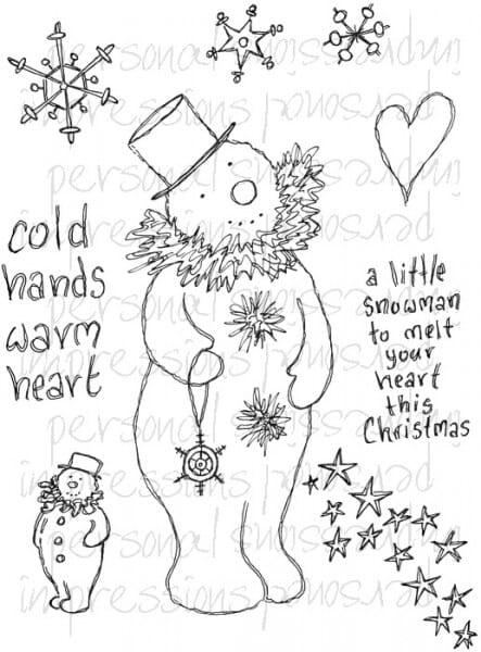 Lindsay Mason Designs - Cold Hands Warm Heart A6 Clear Stamp