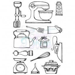 Cathie Shuttlworth Designs - Kitchen Wares Clear Stamp A6