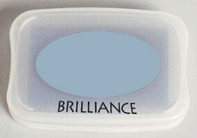 Tsukineko - Pearlescent Ice Blue Brilliance Pad