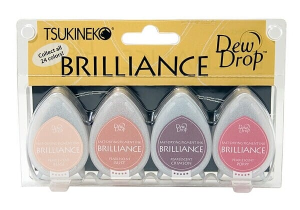 Tsukineko - Brilliance 4 Piece Set Painters Pallet