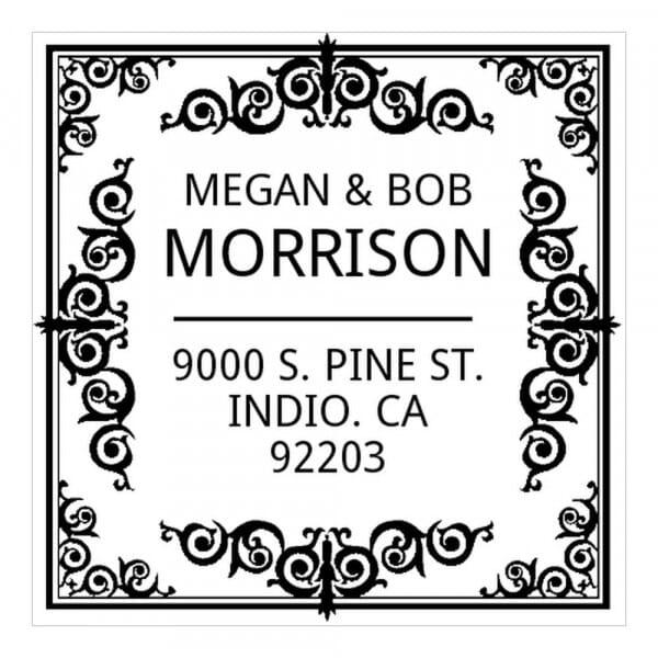 Monogram stamp squared - No  10