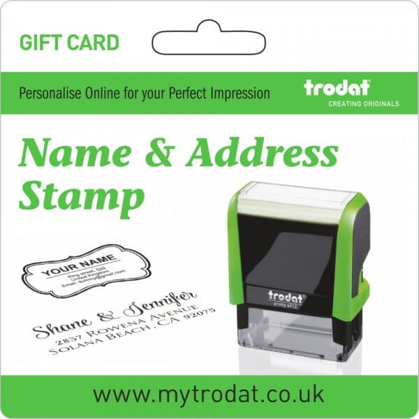 Trodat Address Stamp Gift Card