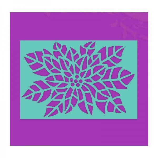 Sue Dix Designs - Poinsettia Stencil