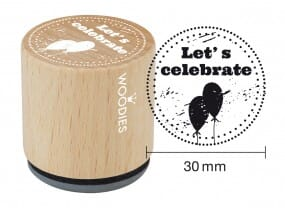 Woodies stamp Let's celebrate