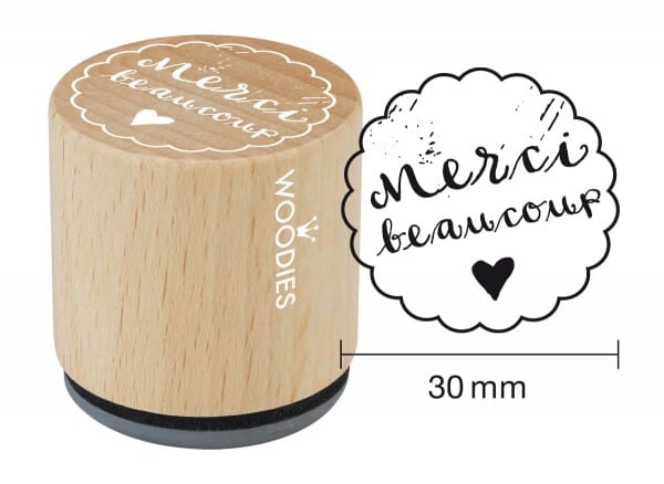 Woodies stamp Merci beaucoup