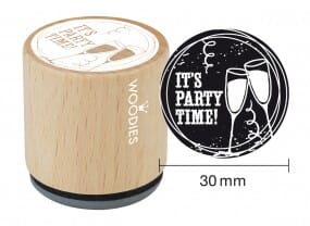 Woodies stamp It's party time