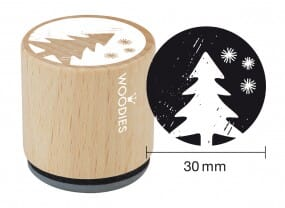 Woodies stamp Christmas tree