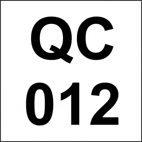 Customised Quality Control Inspection Stamp - Number Square