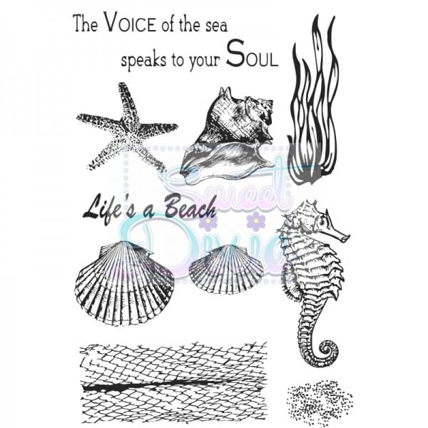 Kath Halstead Designs - Sea Creatures Clear Stamp size A6