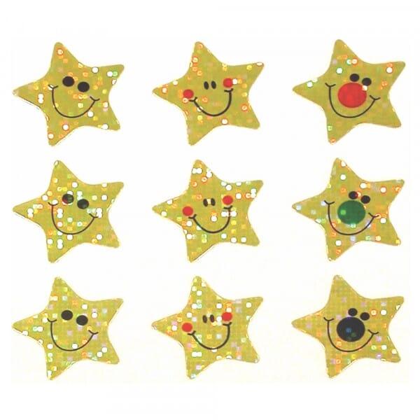 Gold Sparkling Stars