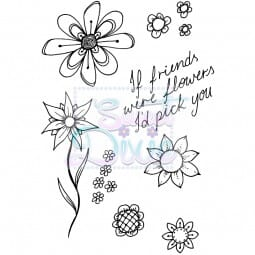 Sweet Dixie - Sweet Dixie Clear Stamp Flower Frenzy A6