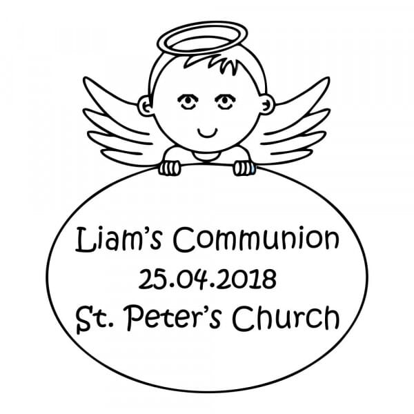 Customisable Communion Stamp - Boys