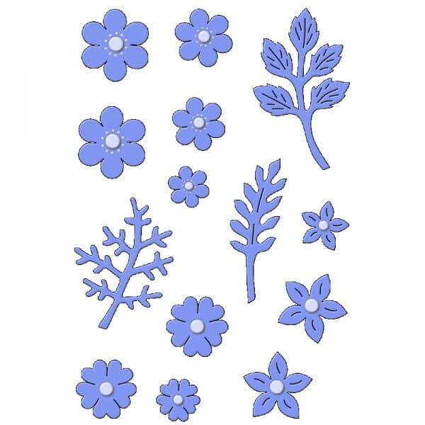 Sue Dix Designs - Delicate Blossoms Everyday Metal Dies