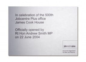 Custom wall plaque - 265 x 190 mm - stainless steel
