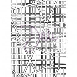 DaliArt - DaliART Clear Stamp Grid Map A6