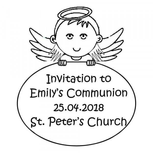 Customisable Communion Invitation Stamp