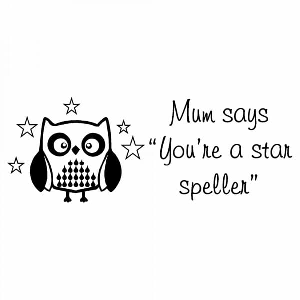 Personalised Home Schooling Stamp - You're A Star Speller
