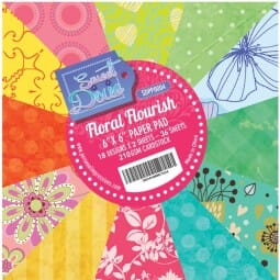 "Sweet Dixie Floral Flourish 6"" x 6"" Cardstock Pad"