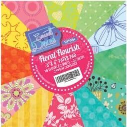 "Sweet Dixie Floral Flourish 6"" x 6"" Cardstock Pad"