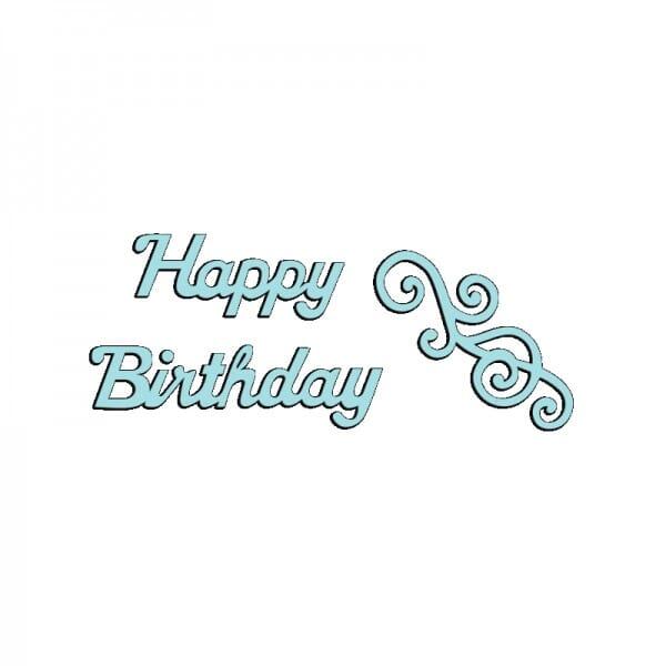 Sue Dix Designs - Happy Birthday and Swirl Mini Dies