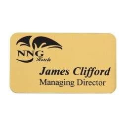 Personalised Name Badge with engraved text - 75 x 40 mm