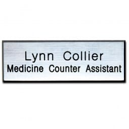 Personalised Name Badge with engraved text - 75 x 25 mm