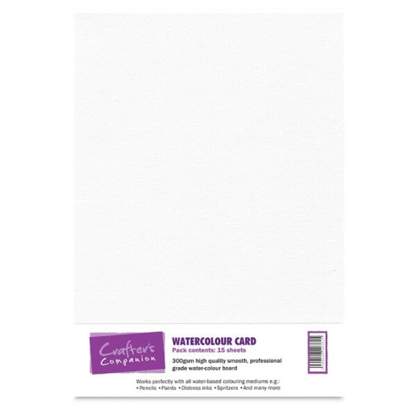 Crafter's Companion Watercolour Card Pack - 15 sheets