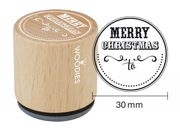 Woodies stamp Merry Christmas to