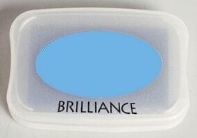 Tsukineko - Pearlescent Sky Blue Brilliance Pad