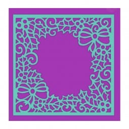 Sue Dix Designs - Holly and Bow Frame Stencil