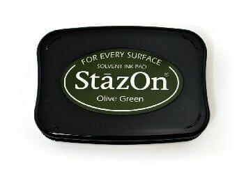 Tsukineko - Olive Green StazOn Pad