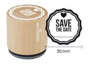 Woodies stamp Save the date 1
