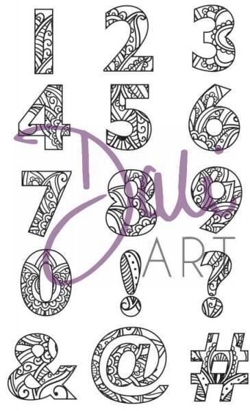 DaliArt - DaliART Clear Stamp Henna Numbers/Symbols